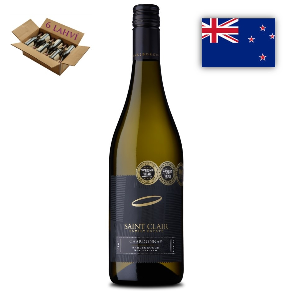 Chardonnay Marlborough Saint Clair karton 6 lahvi