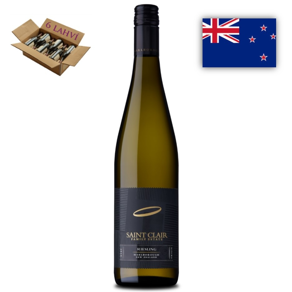 Riesling Marlborough Saint Clair karton 6 lahvi