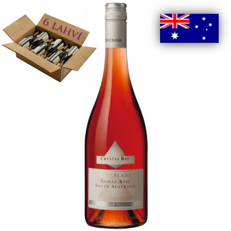 Shiraz Rose Crystal Bay - karton 6 lahvi vina