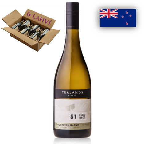 Sauvignon Blanc S1 Single Block Yealands Estate - karton 6 lahvi vina